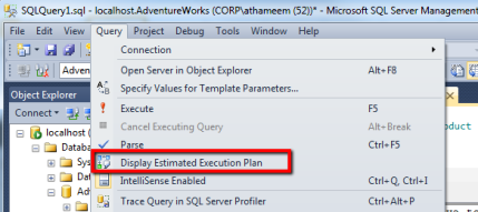 Displaying the Query Execution Plan in SQL Server 2012